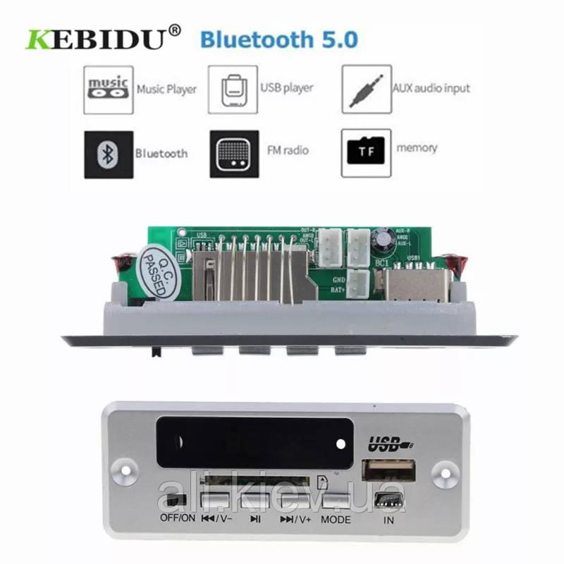 Декодер плеєр з Bluetooth 5.0 MP3/FM/USB/SD/AUX Модуль Decoder 12V + дистанція