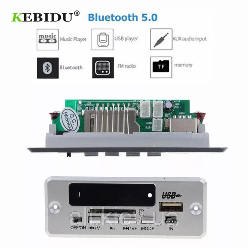 NEW! Декодер плеер с Bluetooth 5.0 MP3/FM/USB/SD/AUX Модуль Decoder 12V + дистанция DIY