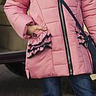Пальто для девочек с бантом - сезон 2019 - (модель КТ-510), фото 2