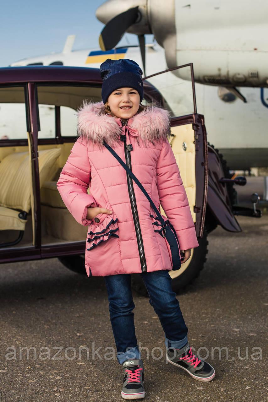 Пальто для девочек с бантом - сезон 2019 - (модель КТ-510)