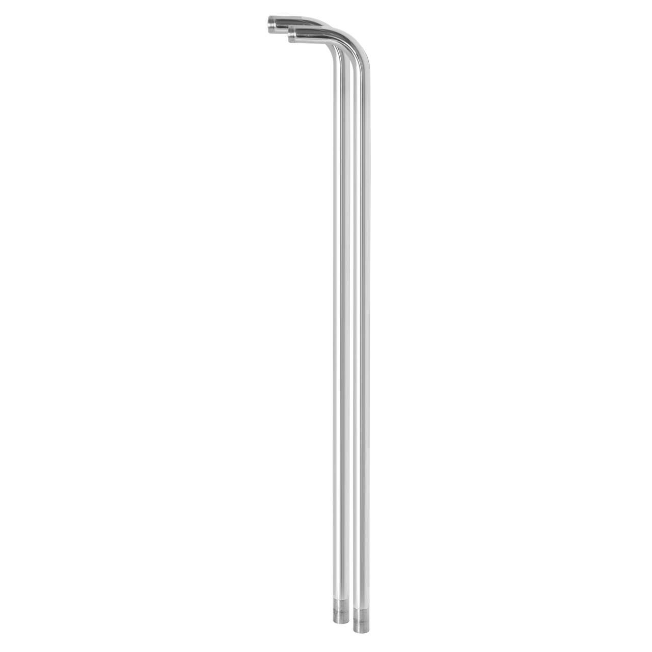 Стойки (2 штуки) для смесителя в ванную (хром)