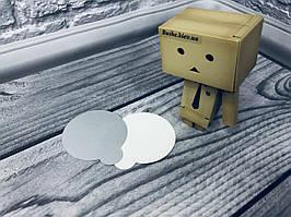 *200 шт* Подложка фуршетная, белый/металик, 60мм/мин 200 шт
