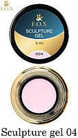 Гель-пластилин для лепки и дизайна ногтей F.O.X Sculpture gel №004, нежно-розовый