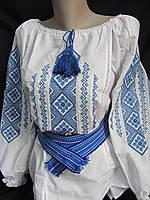 """Блуза с вышивкой """"Геометрия"""", 56 размер 510/460 (цена за 1 шт. + 50 гр.), фото 1"""