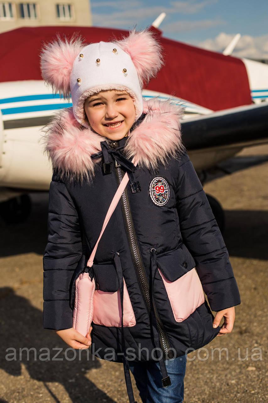 Куртка для девочек с сумочкой - сезон 2019 - (модель КТ-556)