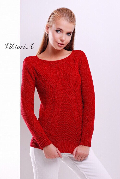 Стильный вязаный женский свитер , в расцветках
