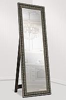 Зеркало напольное в раме Factura с опорной деревянной подставкой Grace Bronze 60х174 бронза, фото 1