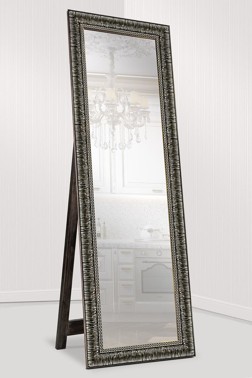Зеркало напольное в раме Factura с опорной деревянной подставкой Grace Bronze 60х174 бронза