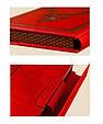 """Щоденник (портфоліо) А5 формату в шкіряній обкладинці зі змінним блоком """"Версаль"""" (на магнітному клапані), фото 3"""