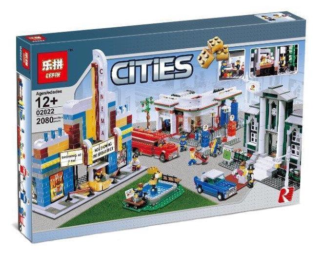 "Конструктор Lepin 02022 ""План города"" 2080 деталей. Аналог LEGO City 10184"