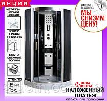 Гидромассажный бокс (гидробокс) с низким поддоном 100*100 см AquaStream Comfort 110 LB