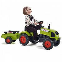Детский педальный трактор с прицепом CLAAS ARION Falk 2041C. Машинка для детей.