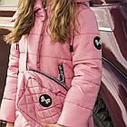 Зимнее брендовое пальто для девочек - сезон 2019 - (модель КТ-561), фото 2