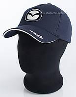 Бейсболка мужская с авто логотипом Mazda синяя