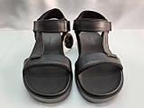 Стильные кожаные комфортные чёрные сандалии Bertoni, фото 6