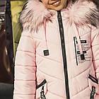 Детское пальто для девочек с экомехом - сезон 2019 - (модель КТ-656), фото 2