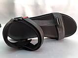 Стильные кожаные комфортные чёрные сандалии Bertoni, фото 8