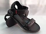 Стильные кожаные комфортные чёрные сандалии Bertoni, фото 2