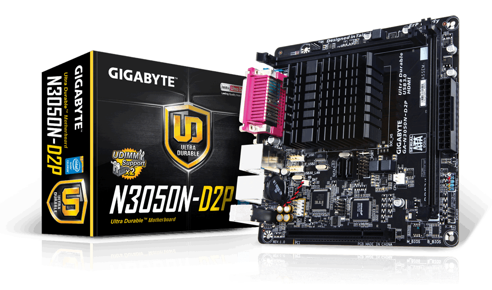"Материнская плата GIGABYTE GA-N3050N-D2P SoC DDR3 ""Over-Stock"" Б/У"