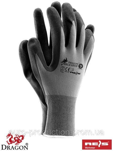 Перчатки защитные покрытые ПВХ RBLACKFOP