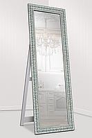 Зеркало напольное в раме Factura с опорной деревянной подставкой Grace Steel 60х174, фото 1