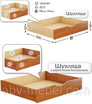 Дитяче Ліжко Аммі 80х190 Бук Щит Білий+102 (Естелла-ТМ), фото 2