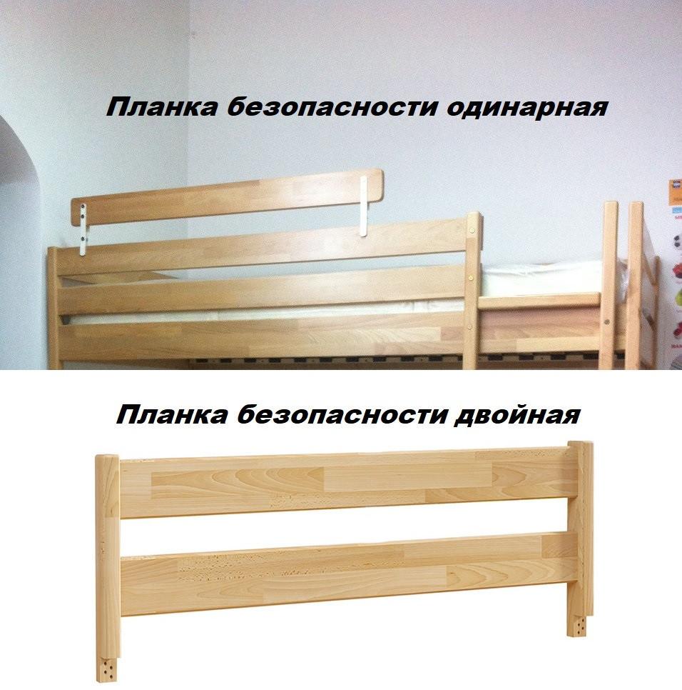 Детская Кровать Амми 80х190 Бук Щит Белый+102 (Эстелла-ТМ), фото 5