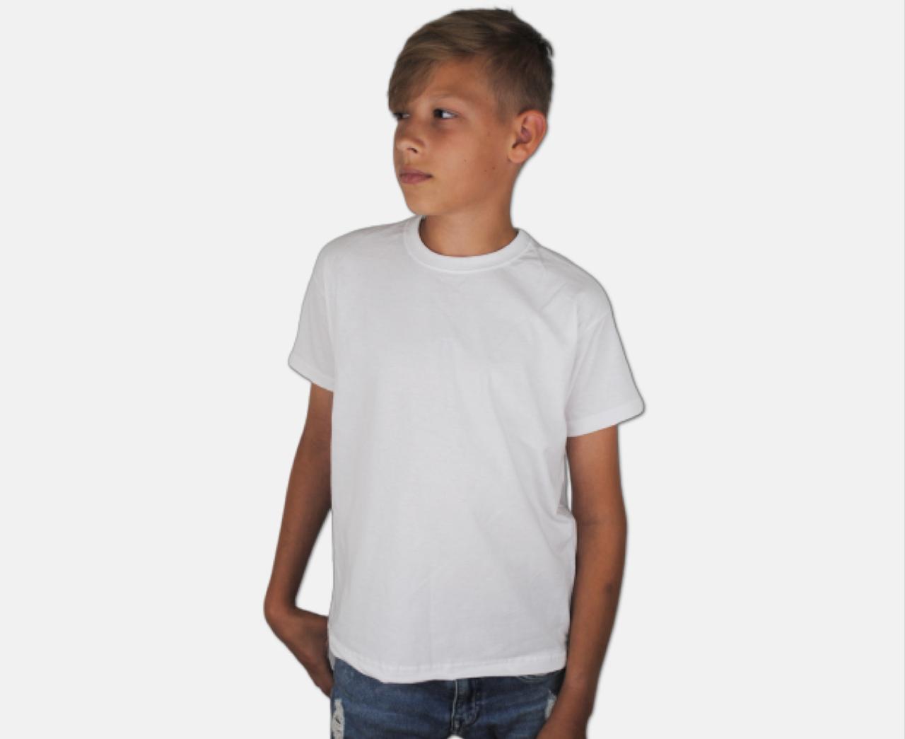 Детская Классическая Футболка для Мальчиков Белая Fruit of the loom 61-033-30 5-6