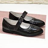 Туфли подростковые для девочек, натуральный замш и кожа, фото 2