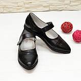 Туфли подростковые для девочек, натуральный замш и кожа, фото 3
