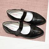 Туфли подростковые для девочек, натуральный замш и кожа, фото 4