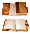 """Щоденник (портфоліо) А5 формату в шкіряній обкладинці зі змінним блоком """"Палаццио"""" (на магнітному клапані), фото 2"""