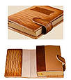 """Ежедневник (портфолио) А5 формата в кожаной обложке со сменным блоком """"Палаццио"""" (на магнитном клапане), фото 3"""