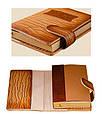 """Щоденник (портфоліо) А5 формату в шкіряній обкладинці зі змінним блоком """"Палаццио"""" (на магнітному клапані), фото 3"""
