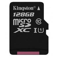 Карта памяти Kingston 128GB microSD class 10 UHS-I Canvas Select (SDCS/128GBSP)
