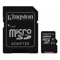 Карта памяти Kingston 128GB microSD class 10 UHS-I Canvas Select (SDCS/128GB)
