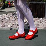 Туфли для девочки на липучках, натуральная замша и лак. Цвет красный, фото 5