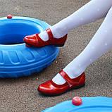 Туфли для девочки на липучках, натуральная замша и лак. Цвет красный, фото 7