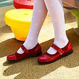 Туфли для девочки на липучках, натуральная замша и лак. Цвет красный, фото 9