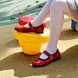 Туфли для девочки на липучках, натуральная замша и лак. Цвет красный, фото 10