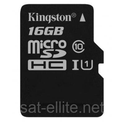 Карта памяти Kingston 16GB microSDHC class 10 UHS-I Canvas Select (SDCS/16GBSP), фото 1