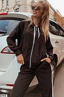 Черный женский костюм спортивный (42-48)