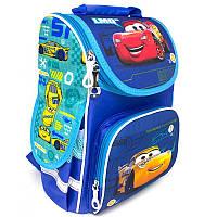 Рюкзак (ранец) школьный каркасный ортопедический Little Star CARS DISNEY 33*26*16 см синий 988660