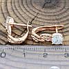 Серьги Xuping Золотой лес 24492 размер 16х5 мм куб. цирконий позолота РО, фото 2