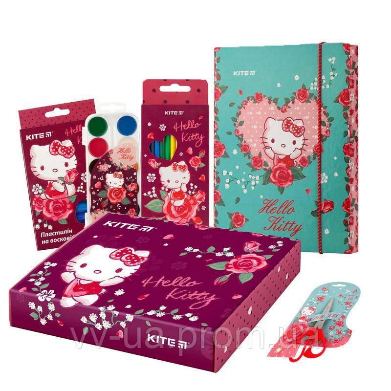 Набор канцтоваров в коробке Kite Hello Kitty маленький (111102)