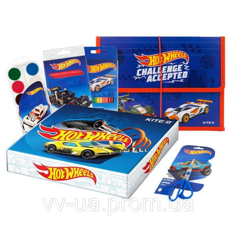 Набор канцтоваров в коробке Kite Hot Wheels маленький (111103)