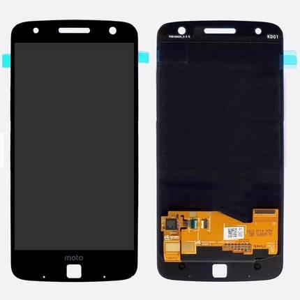 Дисплей (екран) для Motorola XT1650 Moto Z з сенсором (тачскріном) чорний, фото 2