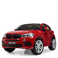 Двухместный Детский электромобиль Джип Bambi JJ2168EBLRS-3 BMW X6 EVA лак кожа 70W 143см