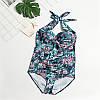 Слитный женский купальник больших размеров с цветочным принтом опт
