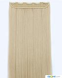 Накладные волосы  на клипсах, трессы 60 см цвет блонд 5006/16, фото 4
